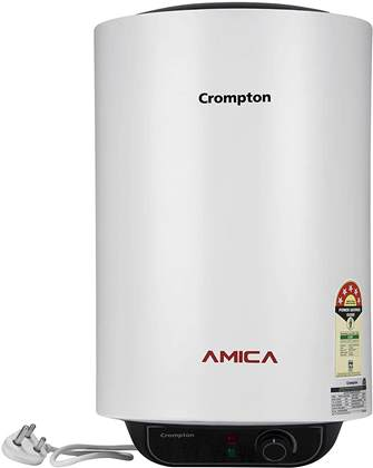 Crompton Amica ASWH-2015 15-Litre Storage Water Heater (Black and White) topbest.in India