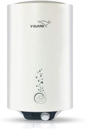 v-guard water heater victo 15 litres - free installation with inlet and outlet pipes,white topbest.in
